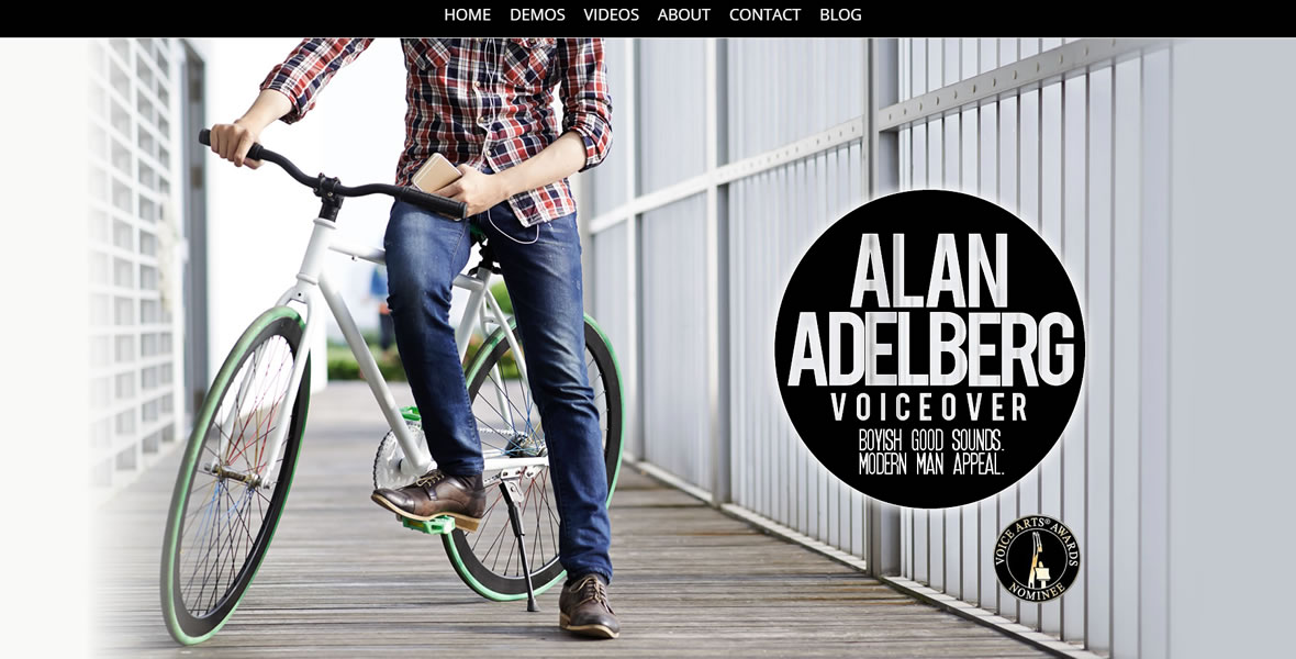 alan adelberg voice talent website development by biondo studio