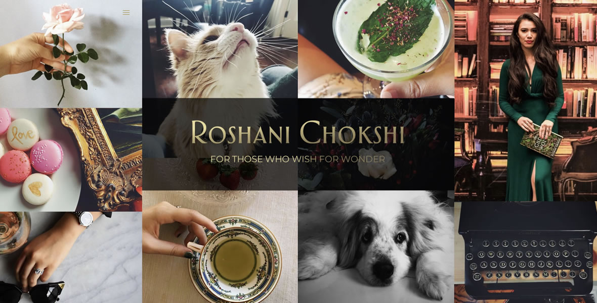 roshani chokshi author website design by biondo studio