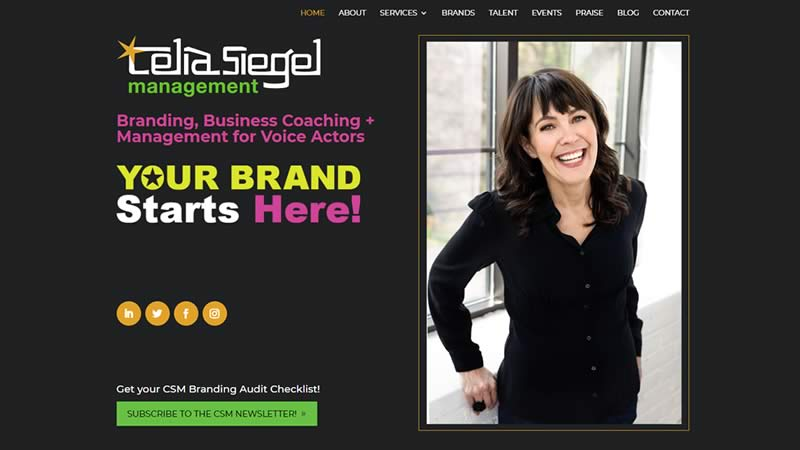 celia siegel management website design by biondo studio